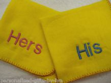 His & Hers Dusters Fun wedding or couples gift Personalised Duster